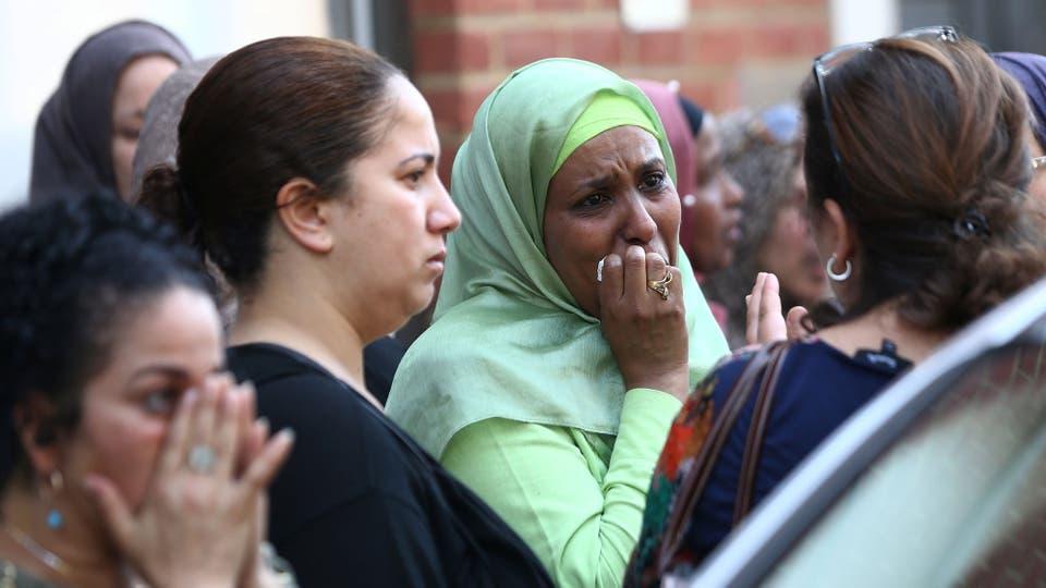 Los familiares de las víctimas tienen contención de las autoridades. Foto: Reuters