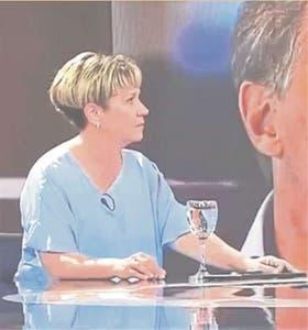 Alessandra Minnicelli, en el programa de TV de Antonio Laje