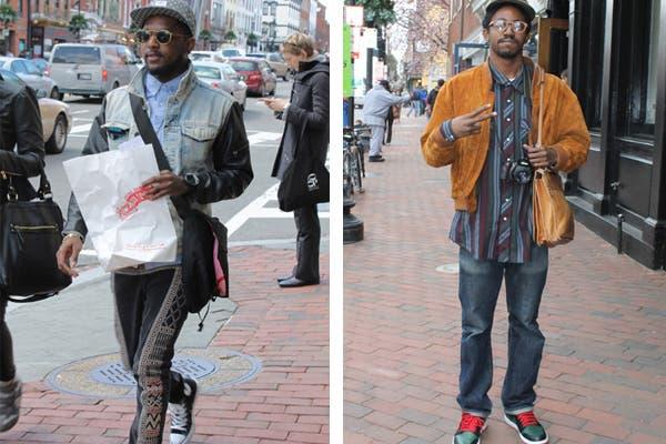 De gorra y anteojos, los hombres demuestran que ellos también tienen estilo.