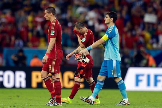 España queda afuera en el segundo partido. Foto: AP