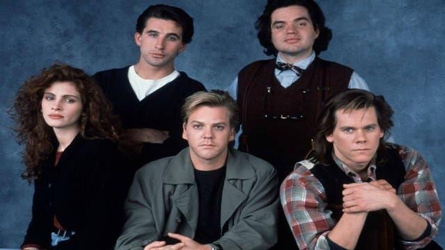 Julia Roberts, Kiefer Sutherland, Kevin Bacon, William Baldwin y Oliver Platt, protagonistas de Línea mortal