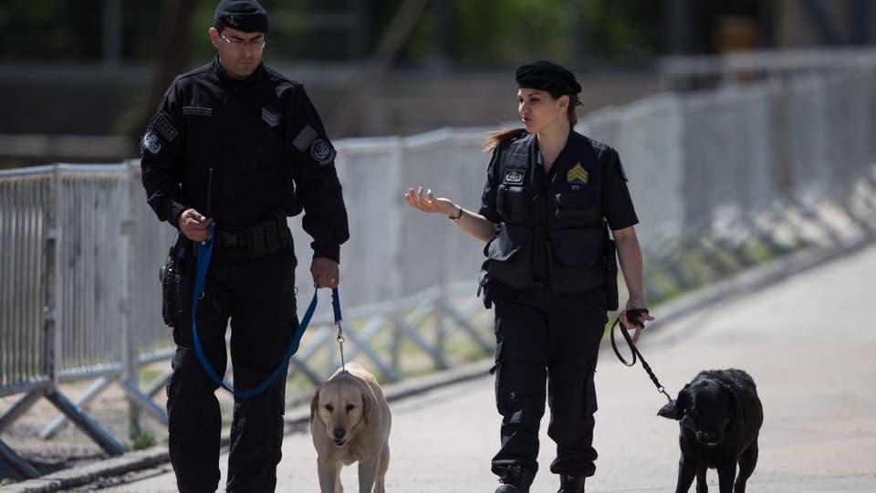 El operativo de seguridad en la Cumbre de Economía Verde en Córdoba. Foto: AFP / Pablo Gasparini