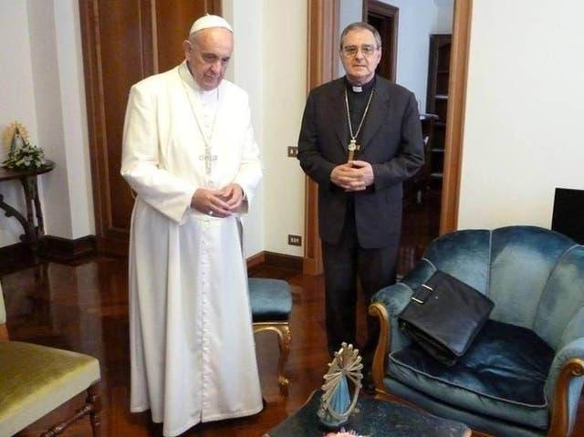 El papa Francisco y Oscar Ojea, obispo de San Isidro