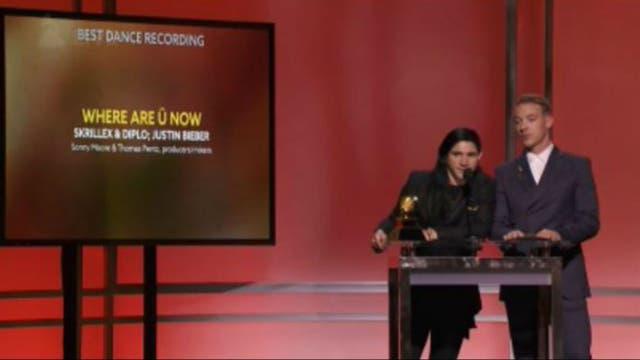 Skrillex y Diplo aceptando su Grammy