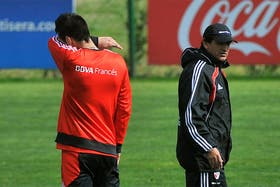 Ramón Díaz, junto a Fabbro