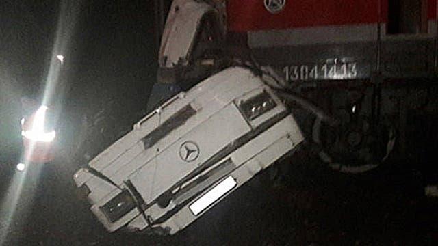 El autobús arrollado por un tren en la región rusa de Vladímir