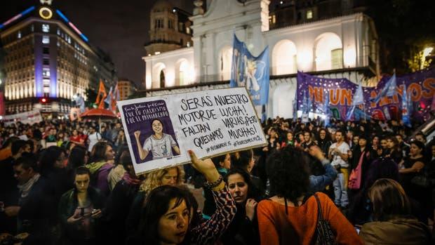 La marcha tras el crimen de Micaela García