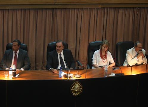 Tribunal Oral Federal 4  integrado por los Jueces María Sanmartino, Leopoldo Bruglia y Jorge Gorini. Foto: LA NACION / Maxie Amena