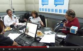 Ricardo Alfonsín, Magdalena Ruiz Guiñazú y Víctor Hugo Morales, en una emisión en que las diferencias sobre el papel del periodismo asomaron en un contrapunto caliente.