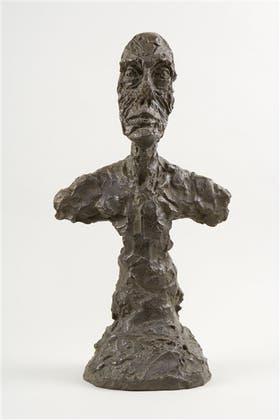Busto de hombre [Nueva York II], escultura en bronce de 1965