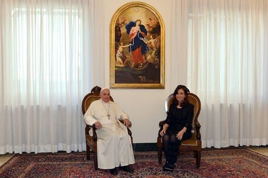 """Cristina contó que el Papa le pidió que la región latinoamericana se """"mantenga unida"""". Foto: DyN"""