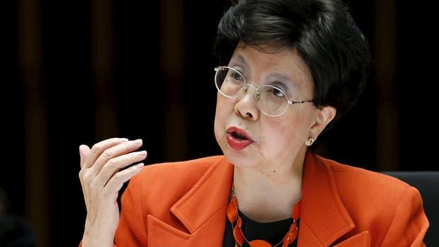 La directora general de la OMS, Margaret Chan