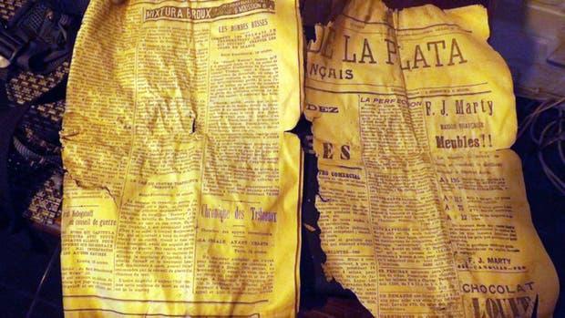 El diario argentino hallado en la Cordillera de los Andes