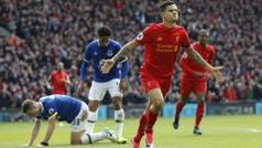 El hermoso gol de Philippe Coutinho para el triunfo de Liverpool en el clásico ante Everton