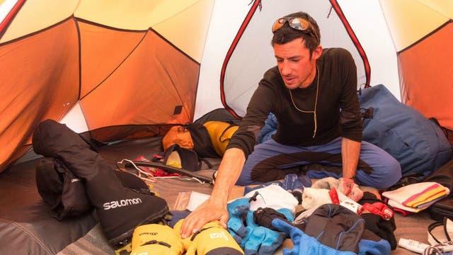 Una de las carpas que armó Kilian Jornet en el Everest