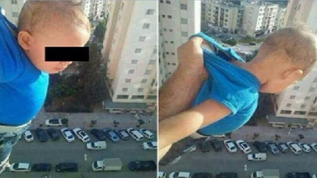 Encarcelado por sacar a un bebe por la ventana de un 15to piso para Facebook