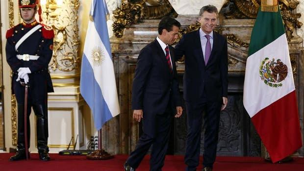 Peña Nieto y Macri en la Casa Rosada, en una renuión en julio del año pasado