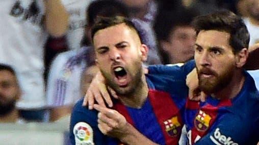 Jordi Alba y Lionel Messi, compañeros en Barcelona