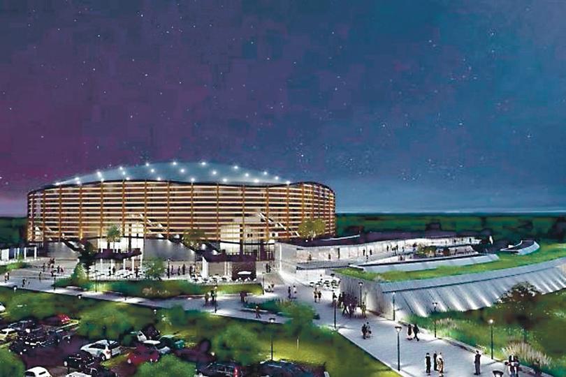 El proyecto: render del futuro estadio y su entorno