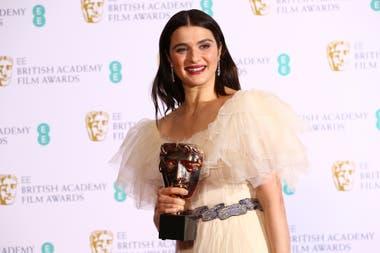 Rachel Weisz,mejor actriz de reparto por La favorita que se llevó siete premios de los doce por los que estaba nominada