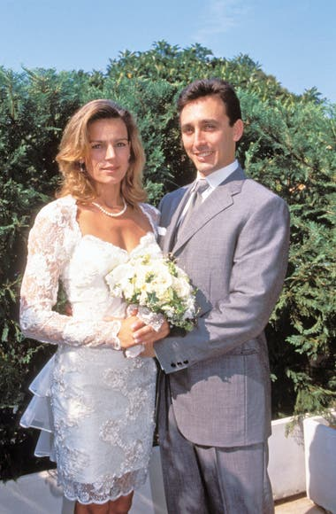 La princesa Estefanía y Daniel Ducruet el día de su boda, el 1 de julio de 1995.