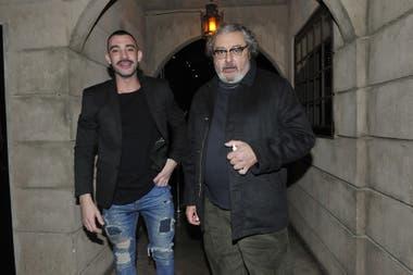 """Ignacio Sureda (""""Pantera"""") y Claudio Rissi (Mario Borges), en el festejo de fin de temporada de la serie producida por Underground"""