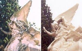 El monumento de la bóveda de José C. Paz, antes y después de la restauración