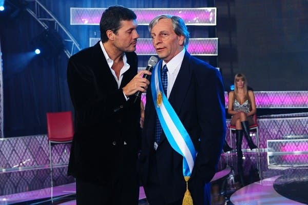 Tinelli con el falso Néstor Kirchner