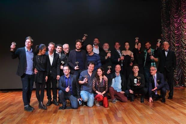 La foto final, con todos los ganadores de la noche