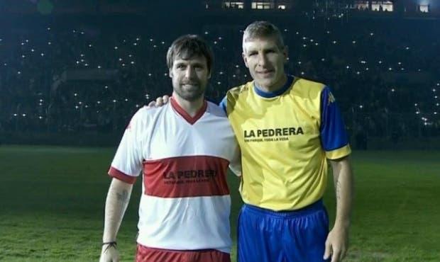 Cavenaghi y Palermo en la noche de Villa Mercedes