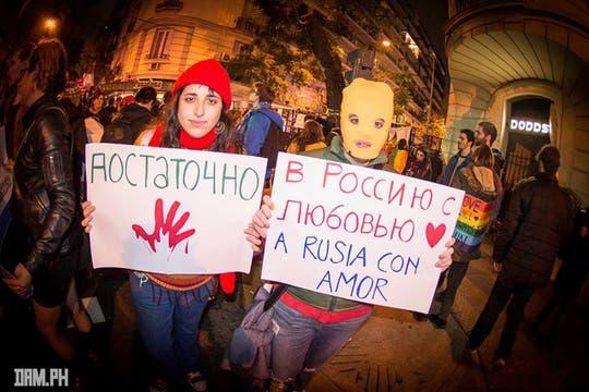 El pedido de respeto a las personas y de amor, las grandes cruzadas hacia Putin. Foto: Facebook/damhidalgo