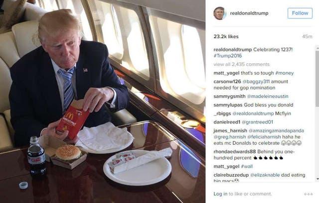 """En Twitter, McDonald's aseguró que Donald Trump era """"asqueroso"""" y que tenía """"manos pequeñas"""""""
