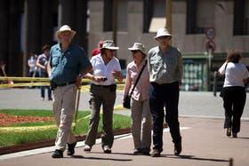 Muchos turistas aprovechan los feriados para recorrer Buenos Aires