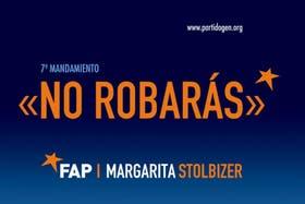 El afiche del FAP que insta a la clase política a cumplir el séptimo mandamiento