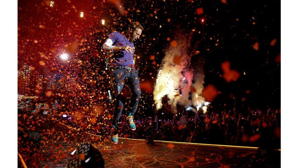 Recital de Coldplay en el Estadio Único de La Plata. La banda británica de pop rock, formada en Londres en 1996, está integrada por Chris Martin, Jonny Buckland, Guy Berryman y Will Champion, Pcia. de Buenos Aires Marzo 2016 . Foto: Fernando Massobrio