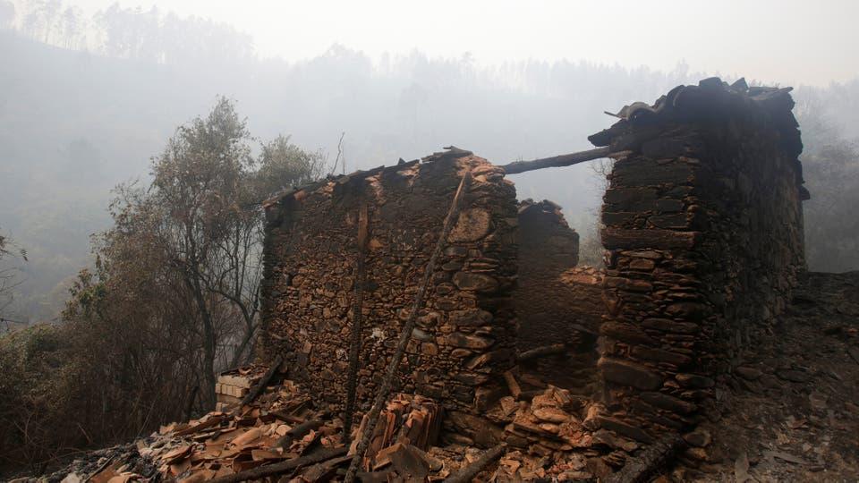 Incendio en Portugal: las llamas no ceden y las cenizas comienzan a cubrir todo. Foto: Reuters / Miguel Vidal