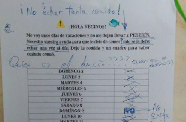 Esta es la peculiar nota que desconcertó a todo un edificio español