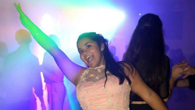 """Laura """"Lali"""" Palacios durante el festejo de sus 15 años"""
