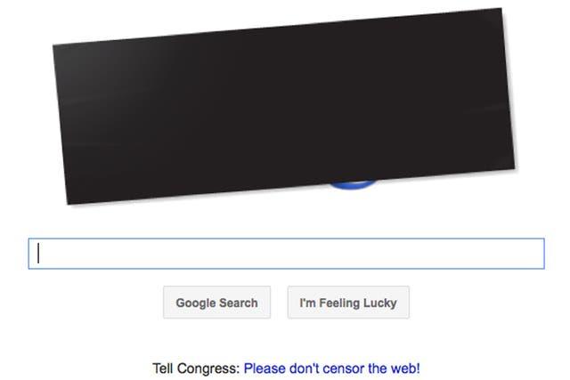 Los usuarios de Google de Estados Unidos se encuentran con un cartel elocuente en página principal del buscador