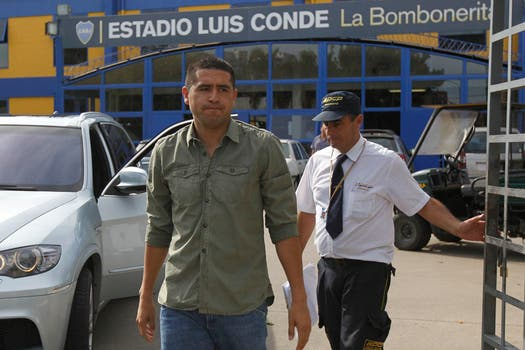 Riquelme se presentó en Casa Amarilla y sostuvo que mantiene su palabra y no vuelve. Foto: LA NACION / Santiago Filipuzzi