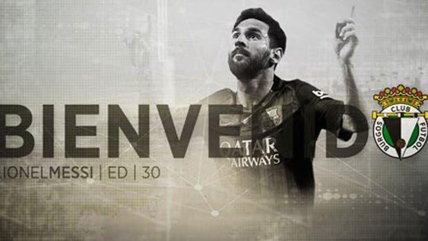 Burgos anunció por Twitter que compró a Messi... una de las tantas bromas a Barcelona