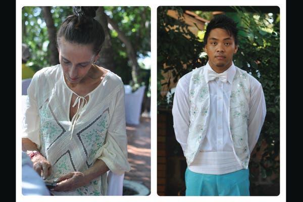 Off white y verde agua, ideal para combinar en camisolas y chalecos como estos. Foto: Lulu Biaus