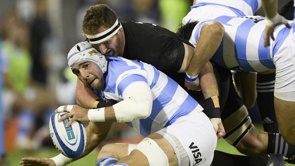 Los Pumas vs All Blacks en Vélez. Foto: AFP / Juan Mabromata