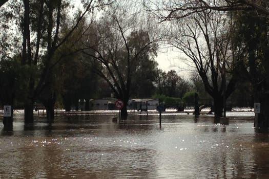 Continúa el mal tiempo y se agrava la situación en las zonas inundadas. San Antonio de Areco. Foto: LA NACION / Milagros Amondaray