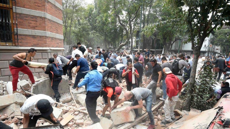 Un terremoto sacudió a la Ciudad de México. Foto: AFP / Alfredo Estrella