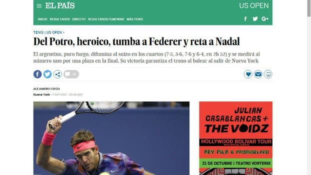 El País, de España. Foto: Captura