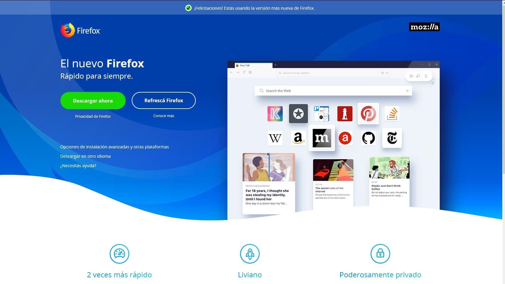 Firefox Quantum: la reinvención de un clásico que vuelve a sorprender