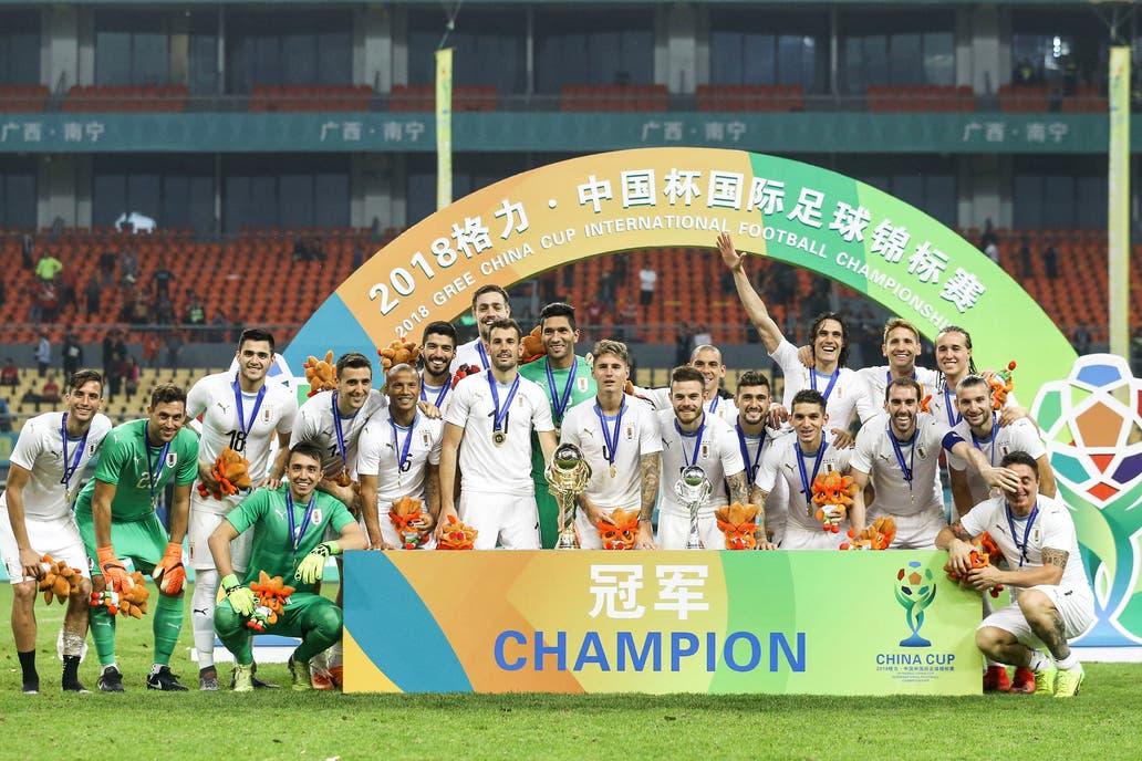 Uruguay venció a Gales por la mínima y levanta la China Cup