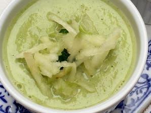 Velouté de brocoli y manzana verde