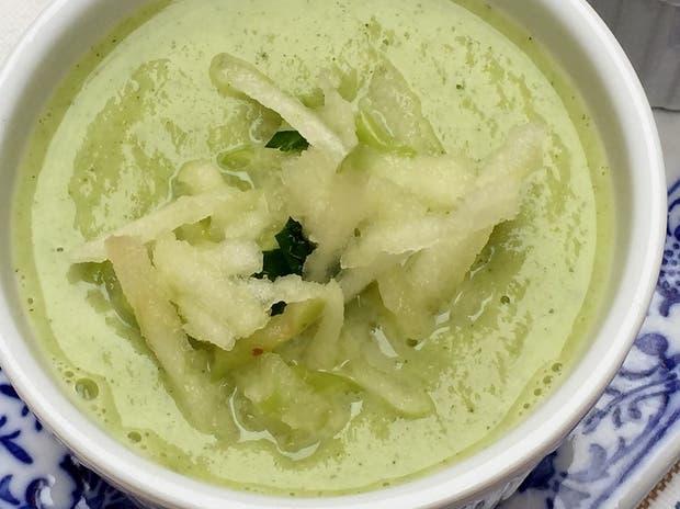 Receta de Velouté de brocoli y manzana verde